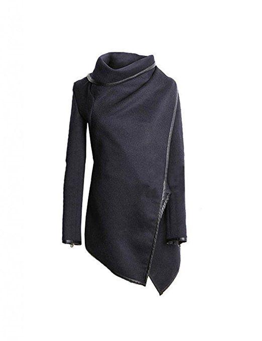innovative design e1962 da3ff Damen Mantel Unregelmäßig Trenchcoat Herbst Windschutz Jacke ...