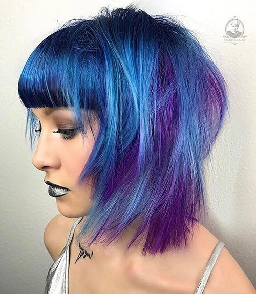 Popular Short Blue Hair Ideas in 2019 – Yesp