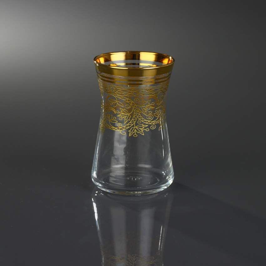 6 PEÇAS CONJUNTO DE COPOS DE VIDRO / Barok Gold - Produtos Importados da Turquia - Loja VirtualProdutos Importados da Turquia – Loja Virtual