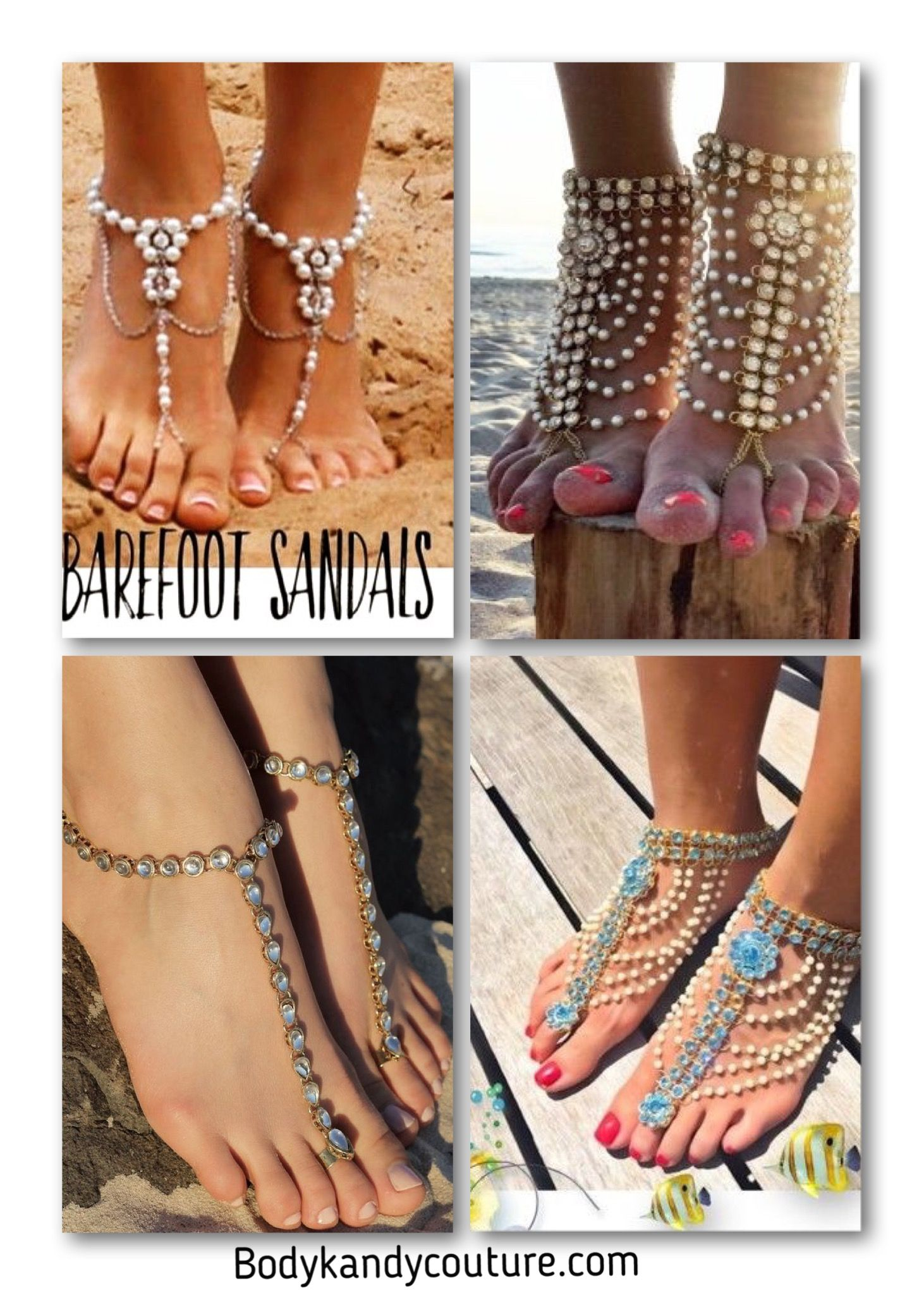 Beaded Barefoot Sandals for Weddings on the Beach Barefoot Sandals