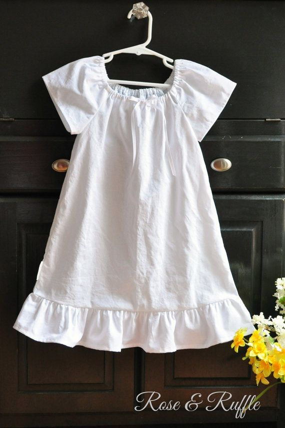 White Cotton Nightgown   Portrait Dress for Newborn c13e3d6cb
