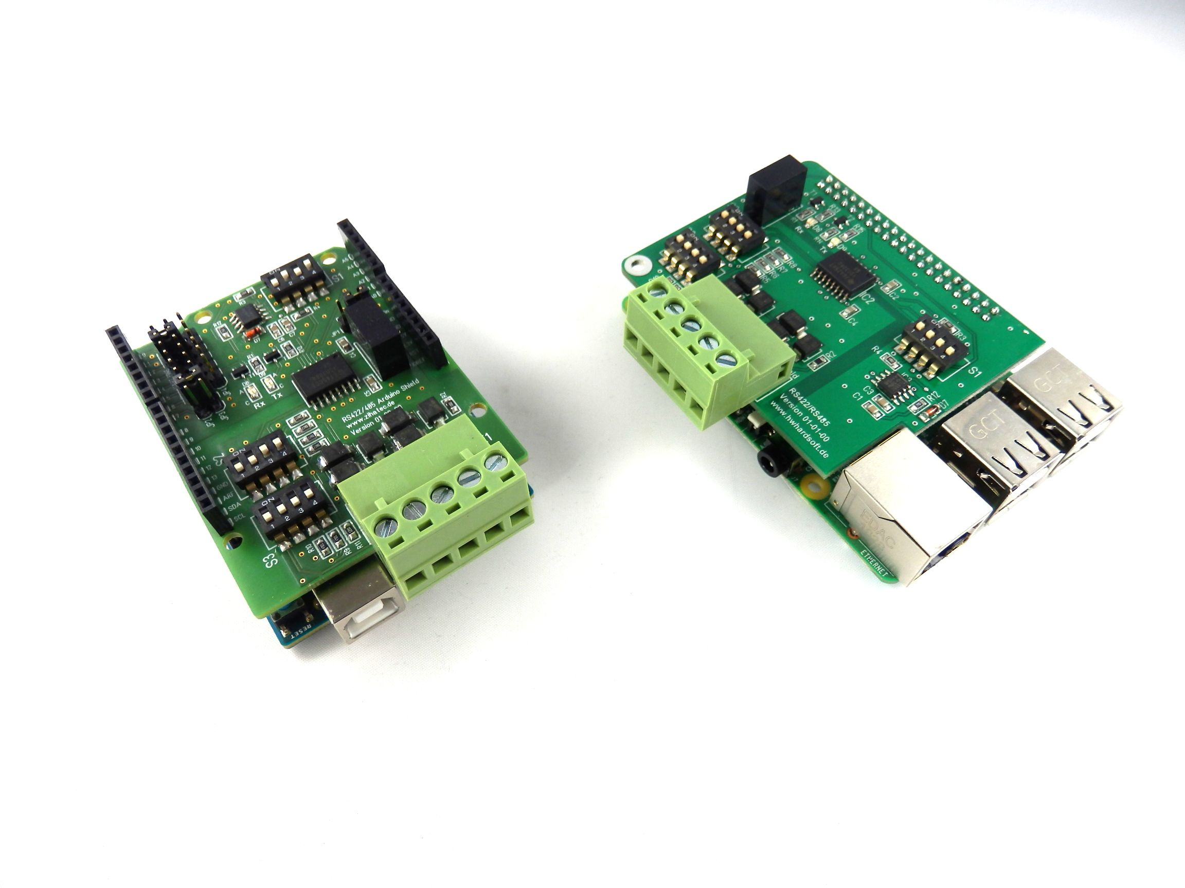 Twins: RS422 / RS485 Shield for Arduino and RS422 / RS485
