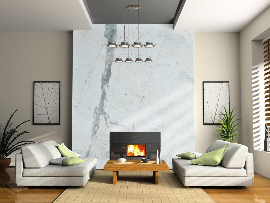 Fireplace Decoration With Unique Statuario Marble Slab Not