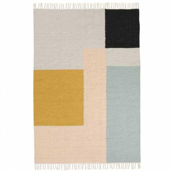 Ferm Living Teppich Squares Quadratische Teppiche Teppich Kelim Teppich