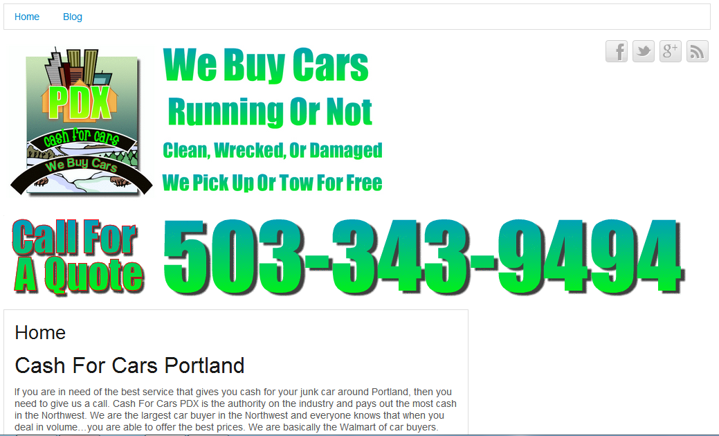 Cash For Cars Portland - We Buy Cars And Pay Cash For Cars In ...