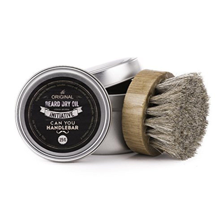 Initiative Beard Dry Oil with Horsehair Beard Oil Brush