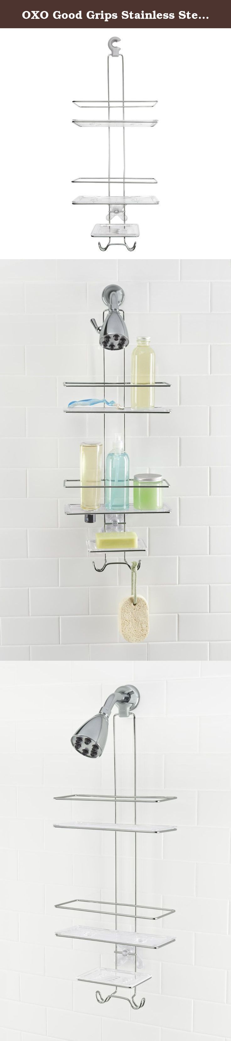 OXO Good Grips Stainless Steel Shower Caddy. Get more storage space ...