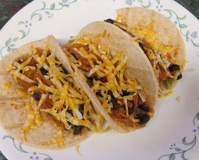 spaghetti squash, black bean and avocado tacos