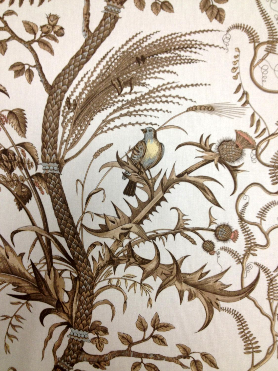 Bird And Thistle Wallpaper Silver