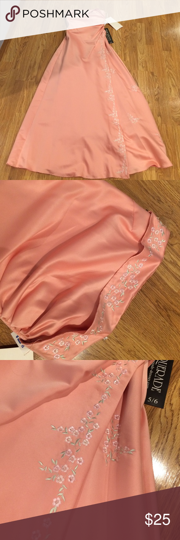 Prom dress Coral color prom dress. Brand new with tags. Never been worn.. Too small on me. Masquerade Dresses Prom