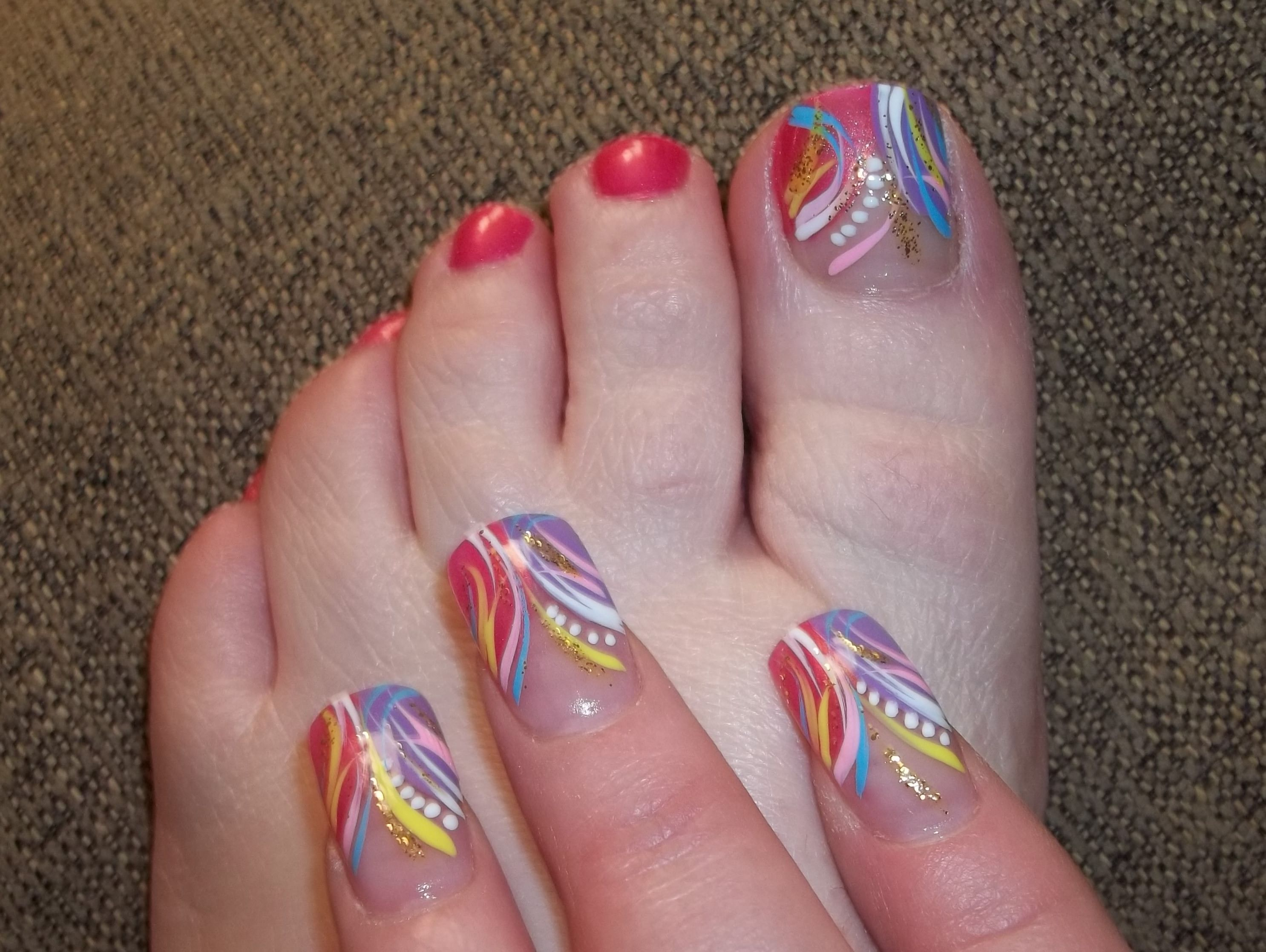 My Birthday Nails | all about the nails and toes | Pinterest ...