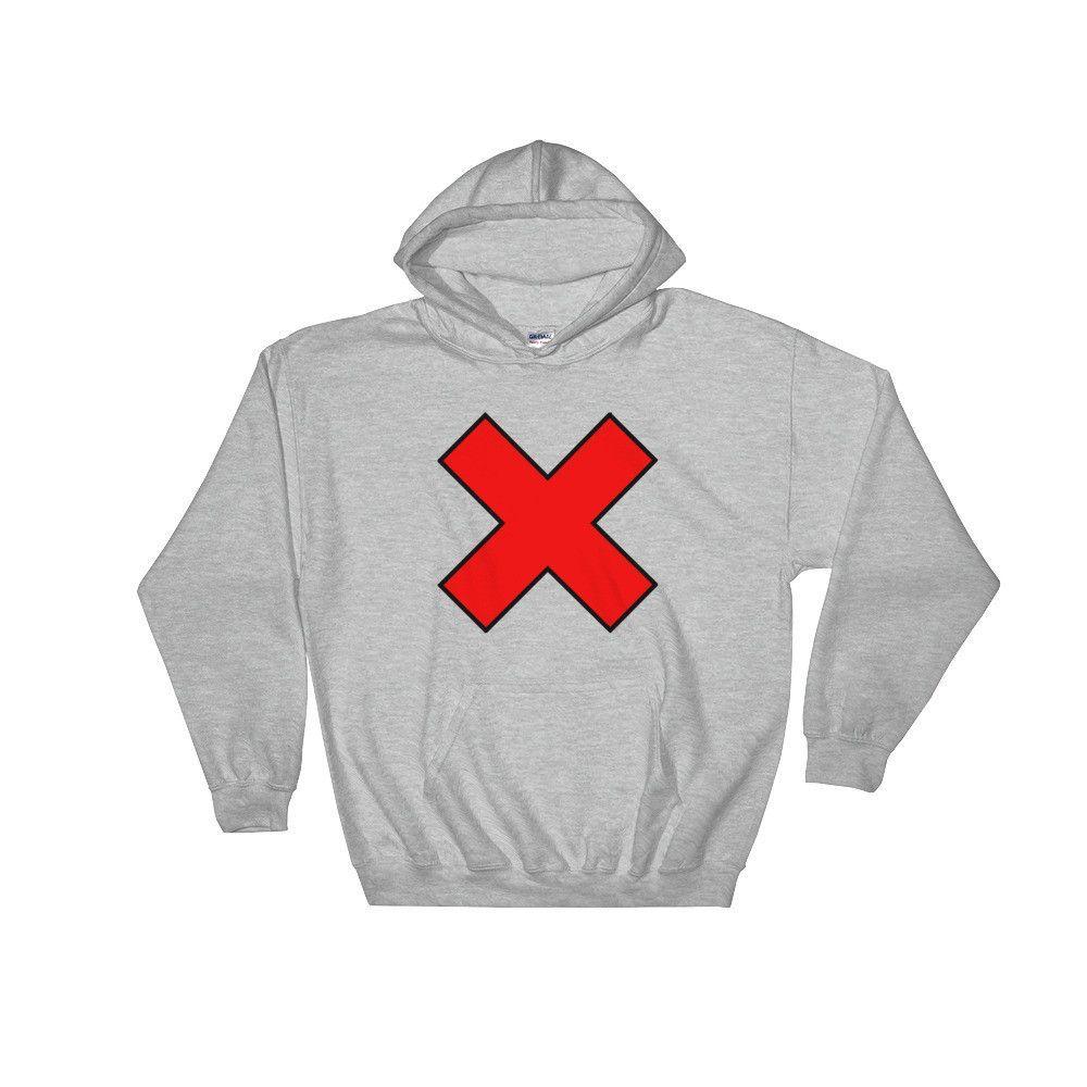 X Marks The Spot Hood Sweatshirt