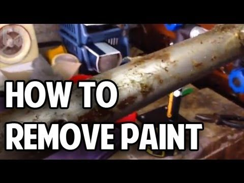 How To Remove Paint From Your Bicycle Frame Youtube Paint