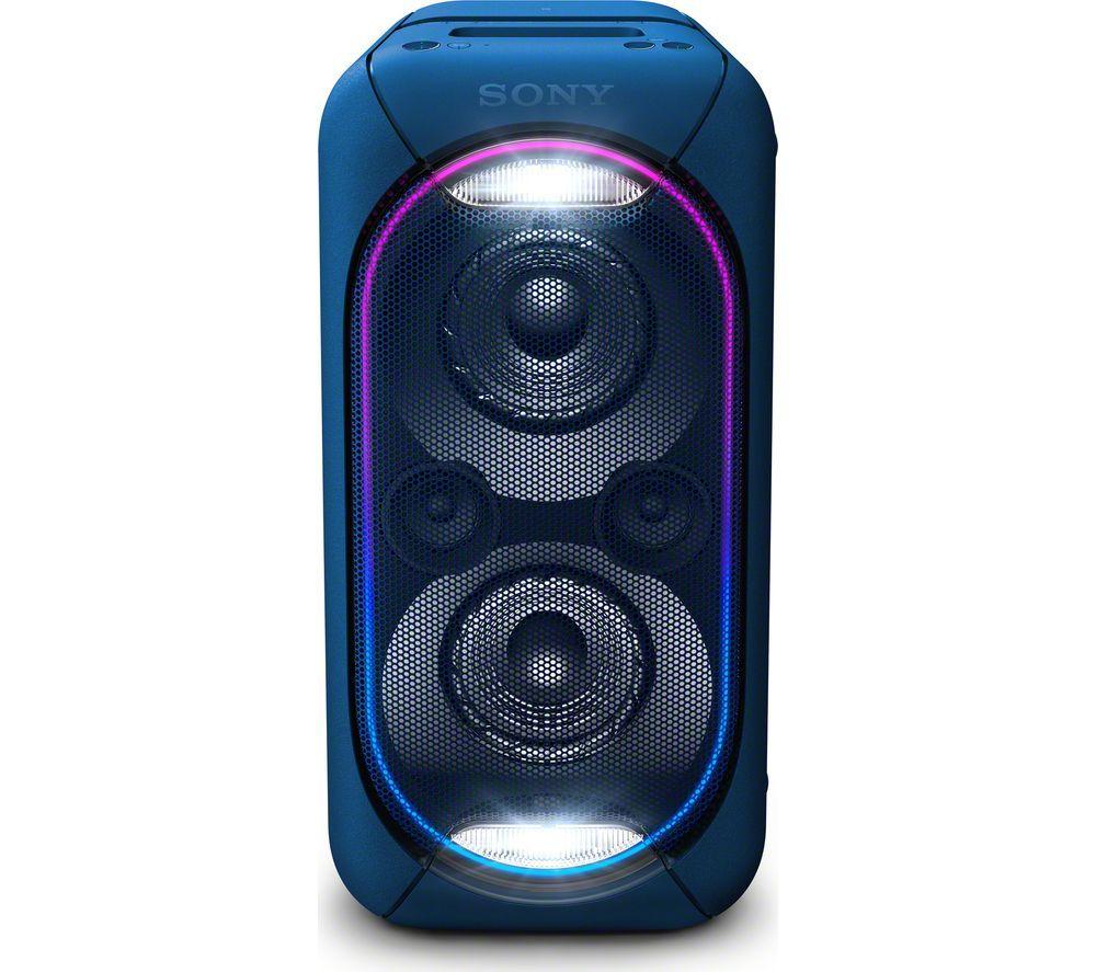 Buy Sony Extra Bass Gtk Xb60l Wireless Megasound Hi Fi System Blue Blue Price 299 99 Party Speakers Bluetooth Speaker