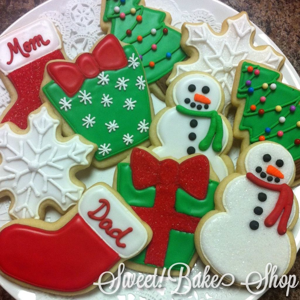 Simple Christmas Sugar Cookie Designs Royal Icing For Outlines