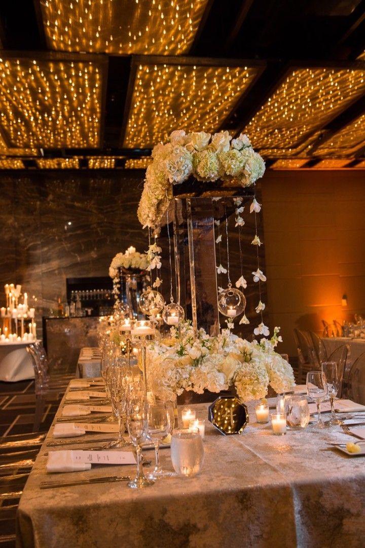 Elegant Florida Wedding At W South Beach Wedding Centerpieces