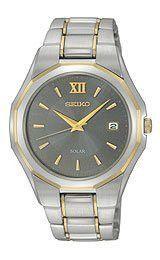 Seiko Solar Two-tone Bracelet Men's watch #SNE166