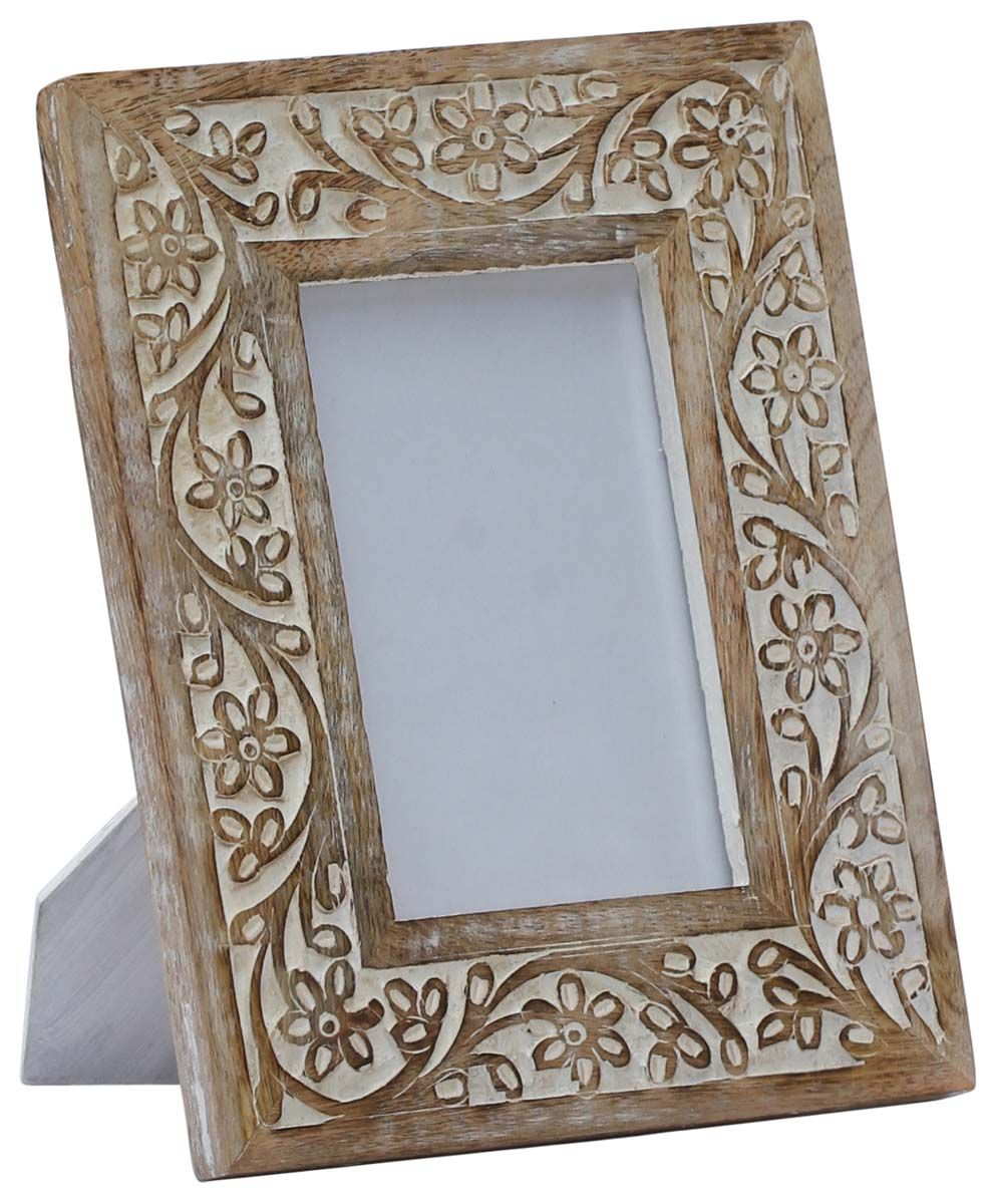 4x6 Inches Shabby Chic Picture Frame In Bulk Wholesale Handmade Mango Wood Photo Frame Pic Shabby Chic Picture Frames Handmade Photo Frames Wood Photo Frame