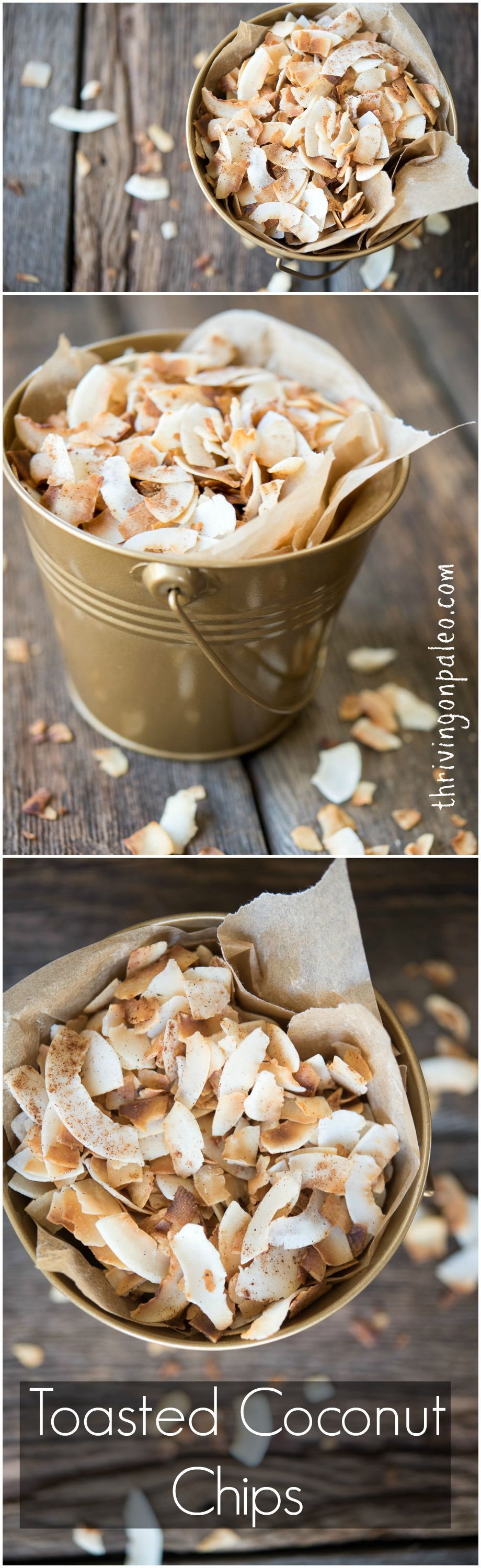How to make toasted coconut chips - tutorial and recipe by Thriving on Paleo