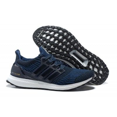 2017 Adidas Ultra Boost Running Shoes Navy White Bb6055