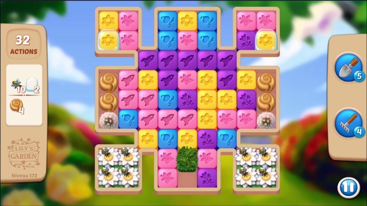 Lily S Garden Level 172 No Boosters In 2021 Lily Garden Design Puzzle Lily