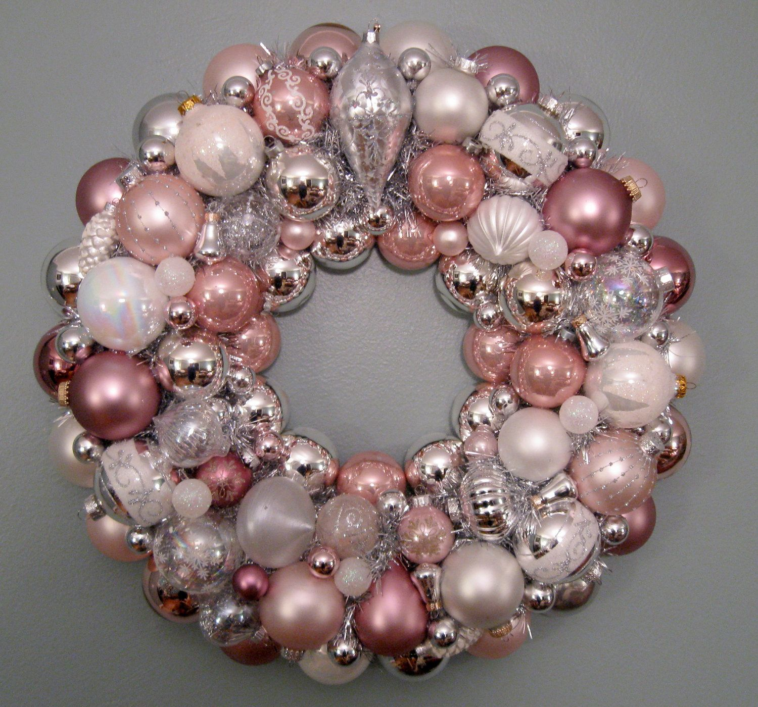 Christmas Wreath Pink Ornament I Want To Make This