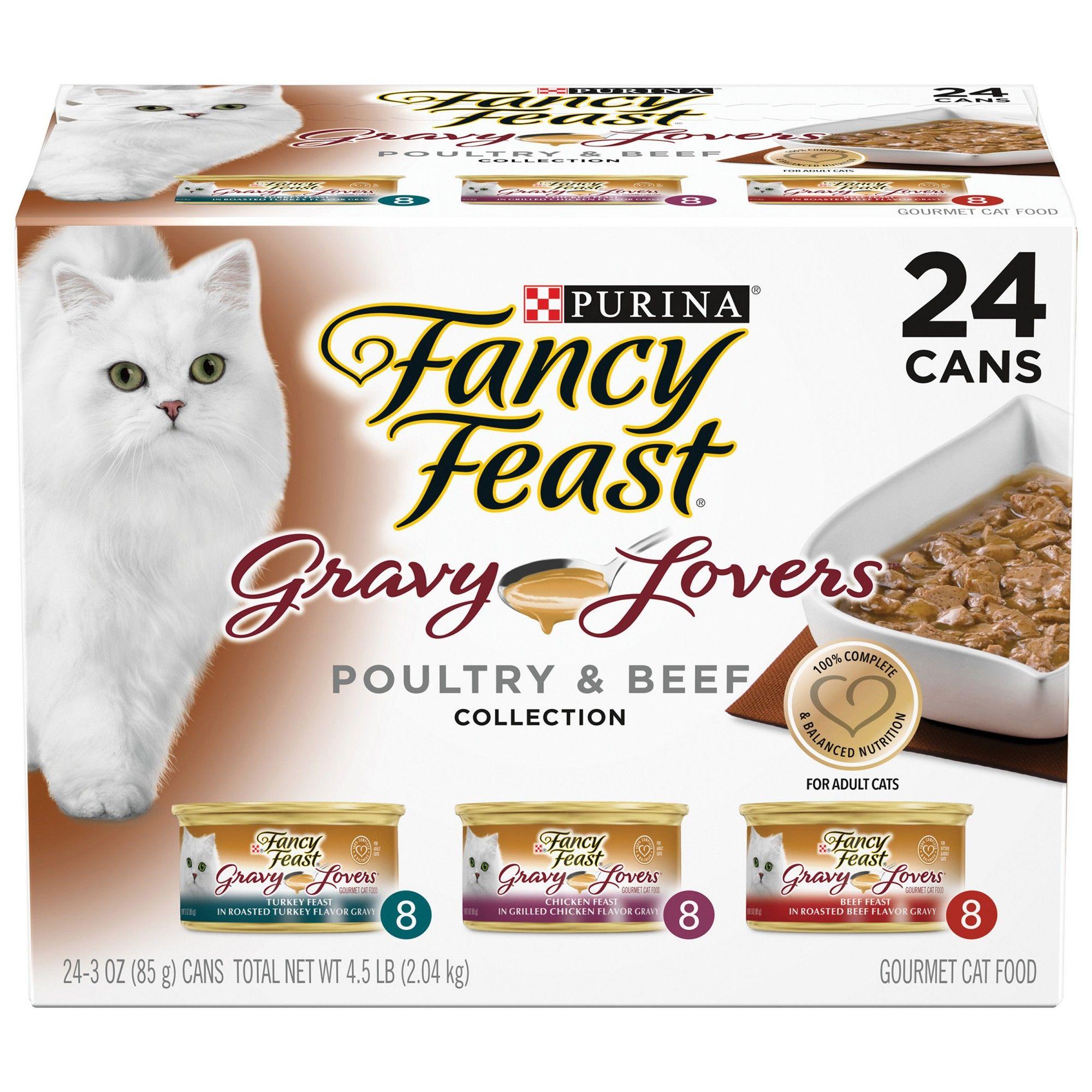 Purina Fancy Feast Gravy Lovers Poultry Beef Feast Variety