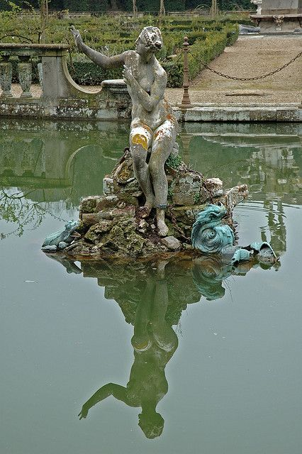 Statue At Neptune Fountain In Boboli Gardens At Palazzo Pitti Statue Oil Painting Inspiration Florence Italy