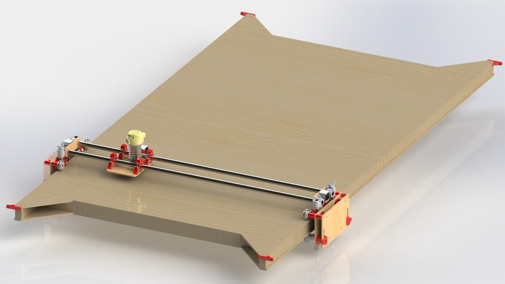 LowRider CNC Full Sheet 4x8 CNC Router by Allted