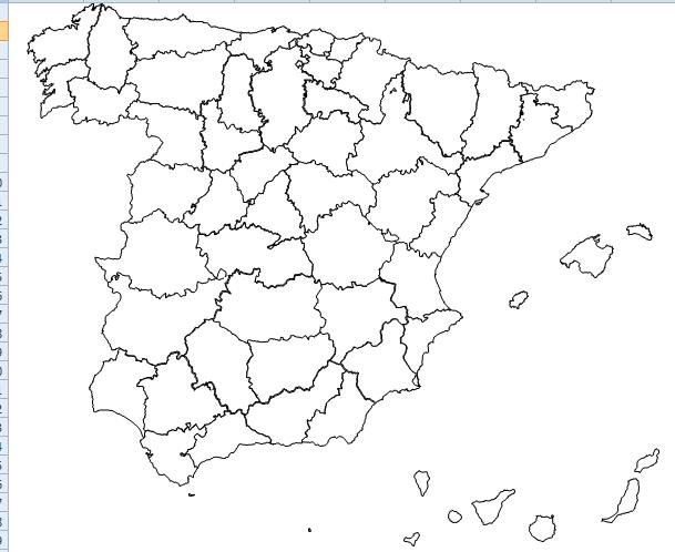Mapa Mapa De España Provincias En Blanco Mapa De España Mapas Ejercicios De Sustantivos