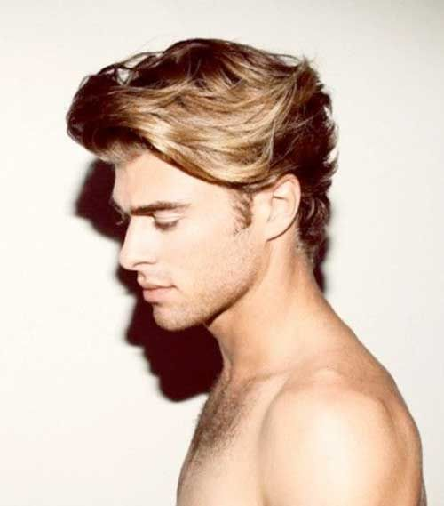 Hairstyle For Men With Wavy Hair Wavy Hair Men Blonde