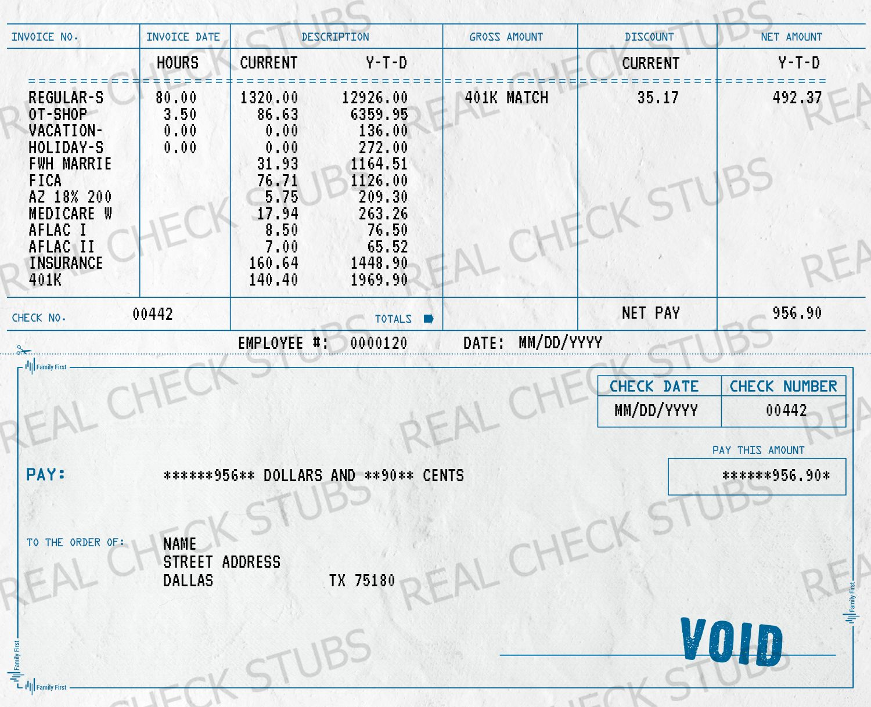 Real Paycheck Stubs Generate Your Real Check Stub Printable Checks Payroll Template Payroll Checks