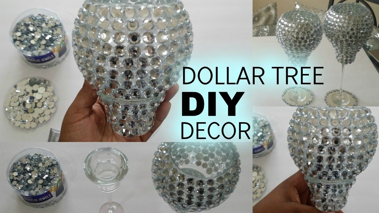 Crystal Claire DIY Dollar Tree Bling Candle Holders
