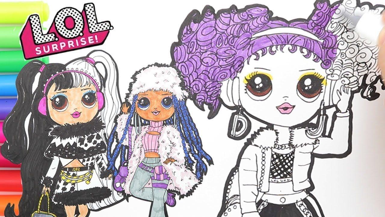 coloring lol surprise big sisters winter disco coloring