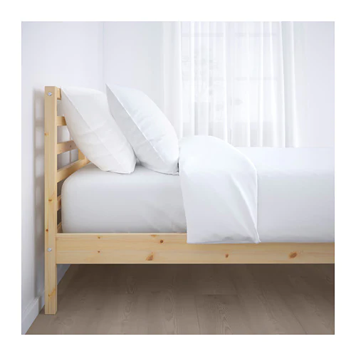 TARVA Bed frame pine, Luröy Queen Ikea bed frames, Bed