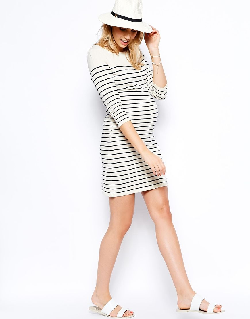 Image 4 of asos maternity exclusive sweater dress in breton stripe image 4 of asos maternity exclusive sweater dress in breton stripe ombrellifo Image collections