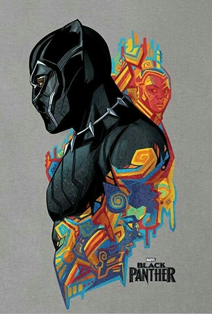 This artwork is so cool. I went to see Black Panther last ...