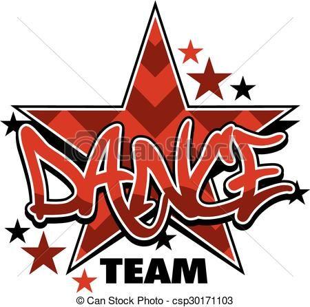 vector dance team stock illustration royalty free illustrations rh pinterest com dance team logo ideas dance team logo ideas