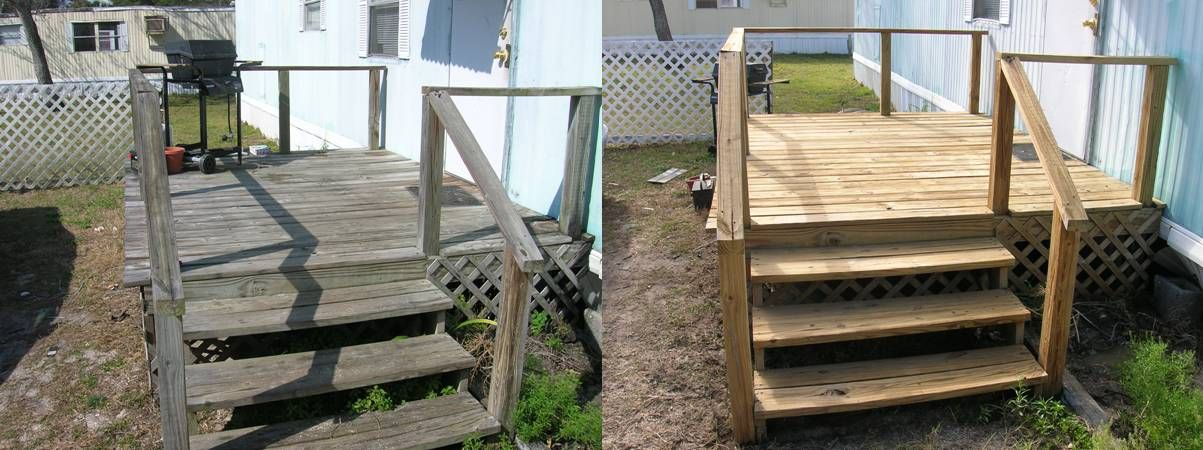 In Constructing The Home Decks, You Should Need The Pictures Of Decks For Mobile  Homes As Our Decoration Guidance. Well, This Mobile Home Deck Design Is ...