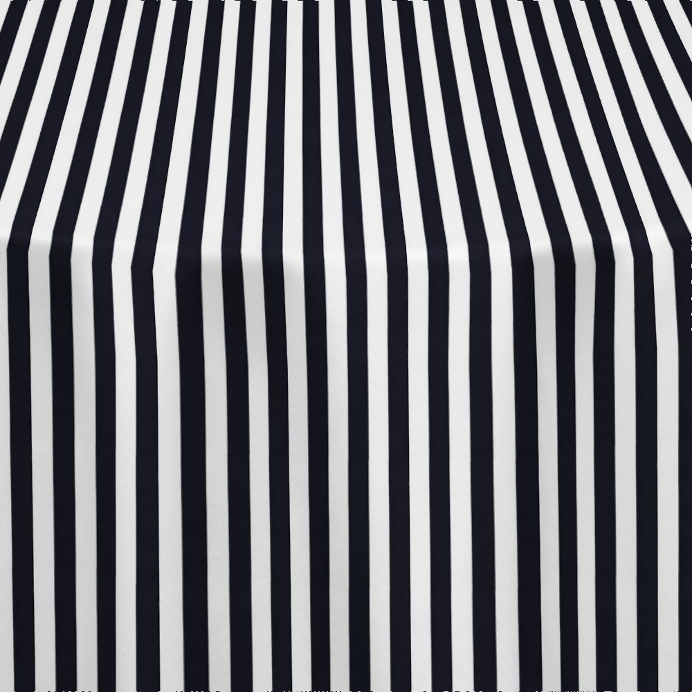 Black Printed Stripe Table Linen by Chair Covers & Linens