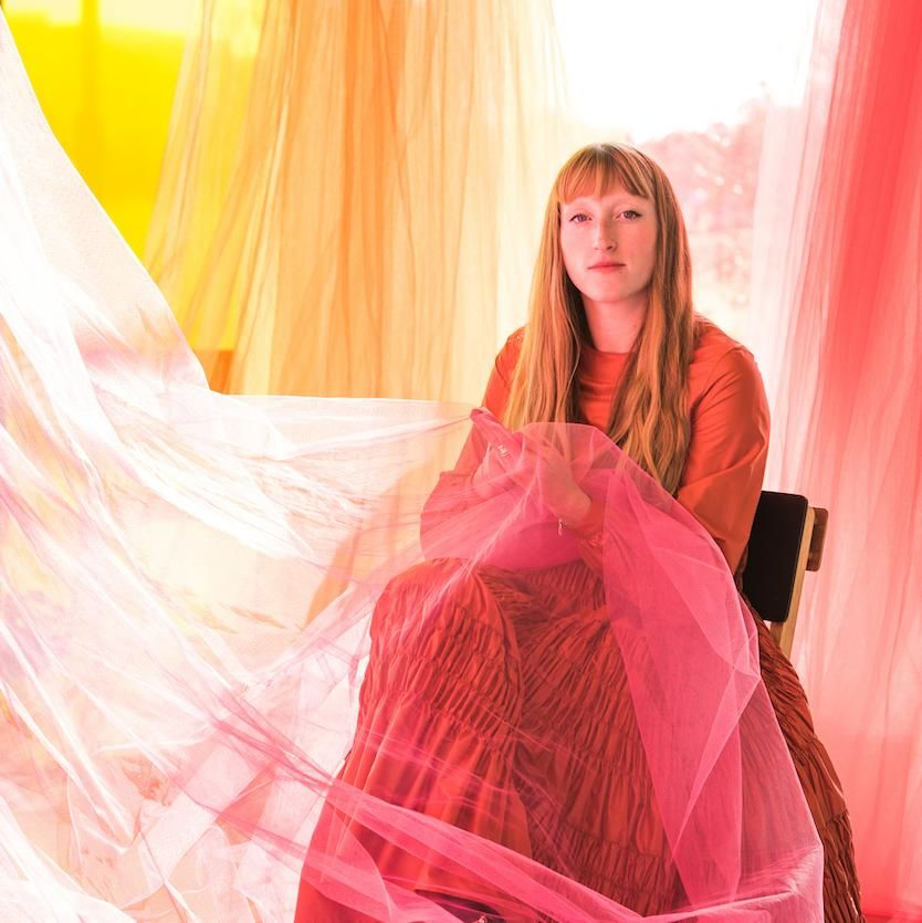 molly goddard on embroidery, giant hanging dresses, wrestlers, and world peace