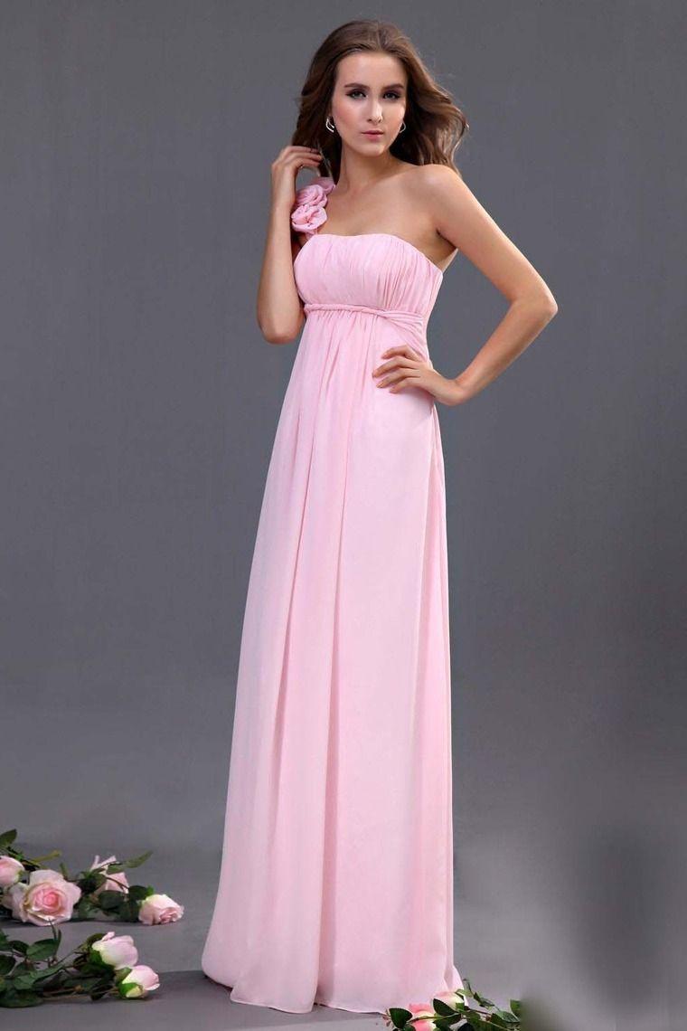 bridesmaid dresses pink sheathcolumn one shoulder floor length