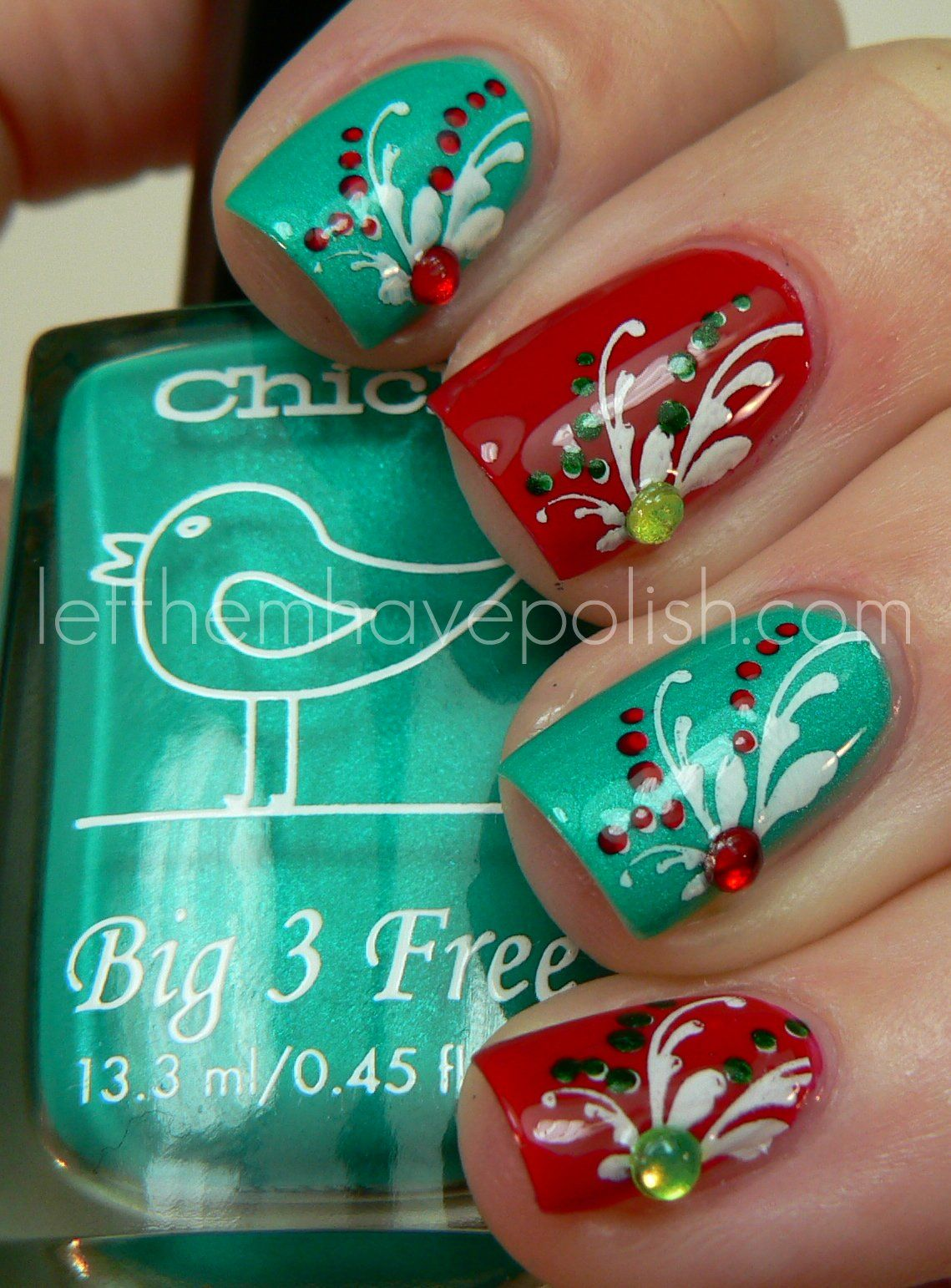 Let them have Polish!: Holiday Skittles with Chick Nail Polish!