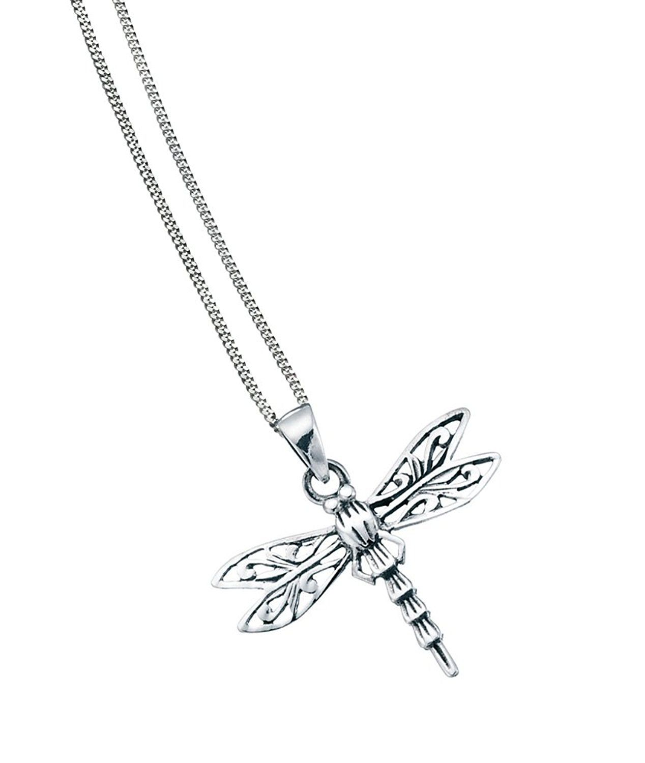 Elements Sterling Silver Ladies Cross Pendant and Chain of Length 41-46cm x771tA4