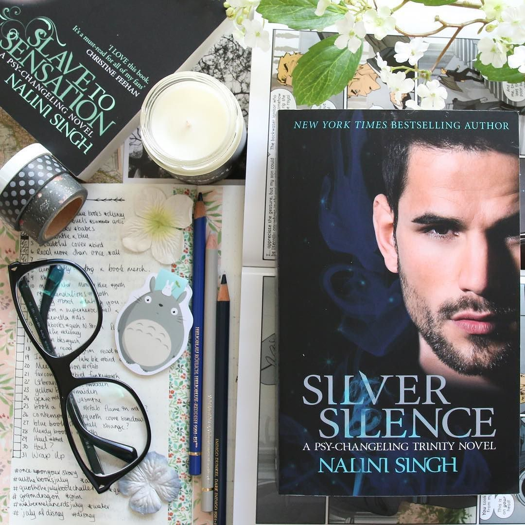 I finished Silver Silence by Nalini Singh and really enjoyed it. If you're into paranormal and urban fantasy this is definitely one to pick up. Gorgeous book! Plus Valentin I'm a fan.  - - Check out a longer review on my blog. Link in my bio. There are also links to Nalini's website where I reccomend you check out her Psy-Changeling series and also her Guild Hunter books. They are excellent  - - - - - - - - - - - #nalinisingh #psychangelingtrinity #psychangeling  #hachette #grimdragon…