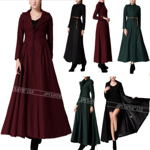 Floor Dress Womens Ankle Full Length Coat Very Long Jacket US 0 2 4 6 8 | eBay