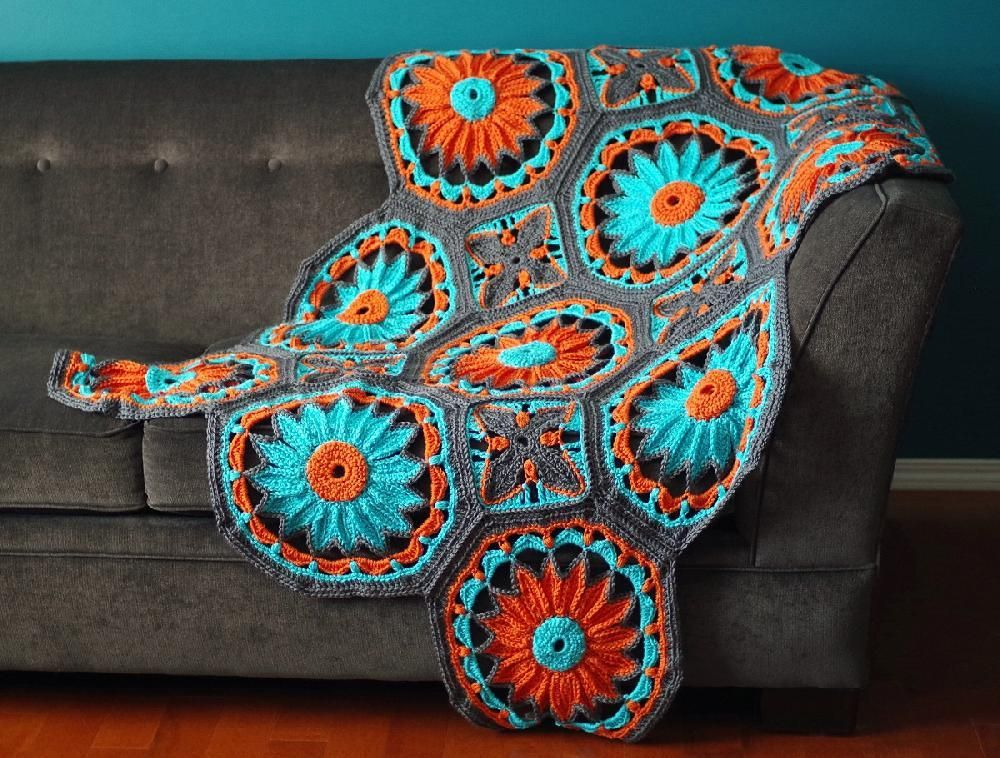 Crocheted Daisy Afghan Crochet pattern by Kraftling | Crochet ...