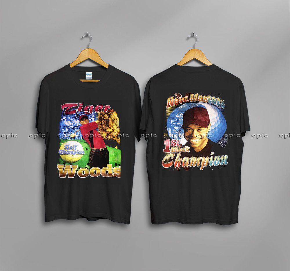 edf7fa9bd51c39 VINTAGETiger Woods Champion Bootleg Rap90s Bay ClubNew T-Shirt Gildan   fashion  clothing  shoes  accessories  mensclothing  shirts (ebay lin…