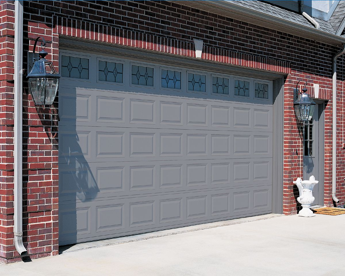 garage door ideas | Model 2283 -- Short Raised Steel Panel ... on Garage Door Colors Ideas  id=95197
