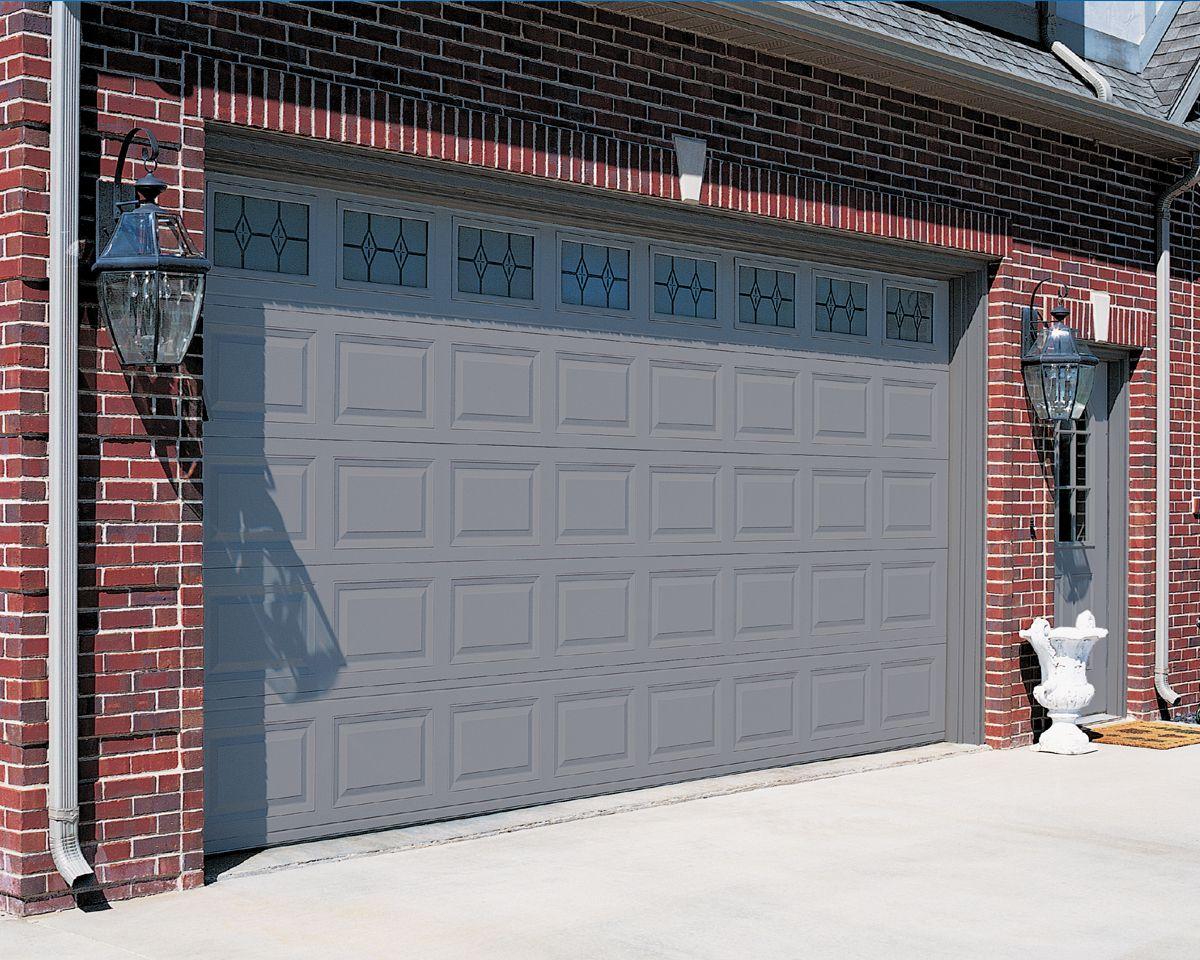 garage door ideas | Model 2283 -- Short Raised Steel Panel ... on Garage Door Color Ideas  id=43462